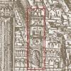 Jacopo De Barbari (1470?-ante 1516). Veduta prospettica di Venezia (1500), particolare con la Torre dell'Orologio. Xilografia. Museo Correr.